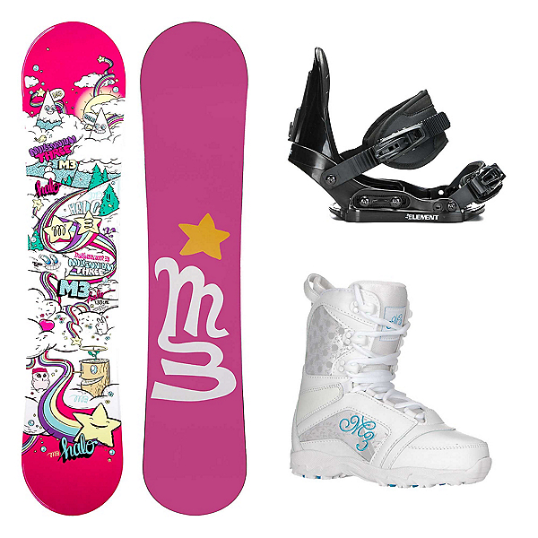 Millenium 3 Halo 3 Venus Girls Complete Snowboard Package 2018, , 600