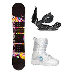 Sionyx Flower Girl Black Venus Girls Complete Snowboard Package, , 256