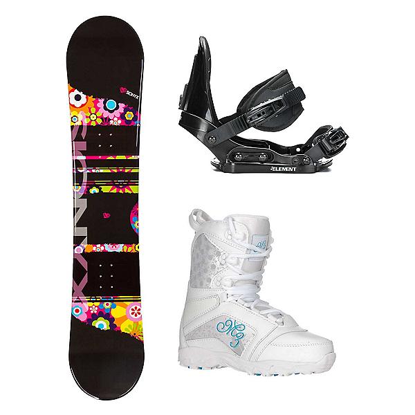 Sionyx Flower Girl Black Venus Girls Complete Snowboard Package 2018, , 600