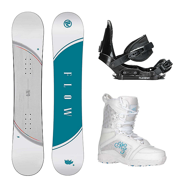 Flow Micron Velvet Venus Girls Complete Snowboard Package, , 600
