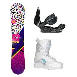 Stella Leo White Venus Girls Complete Snowboard Package, , 256