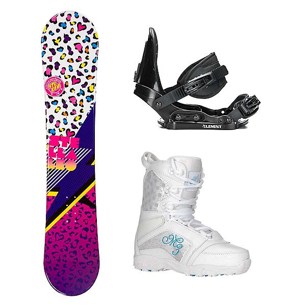 Stella Leo White Venus Girls Complete Snowboard Package, , 600