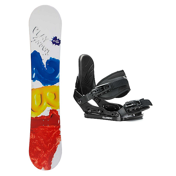 2B1 Play Red Stealth Kids Snowboard and Binding Package, , 600