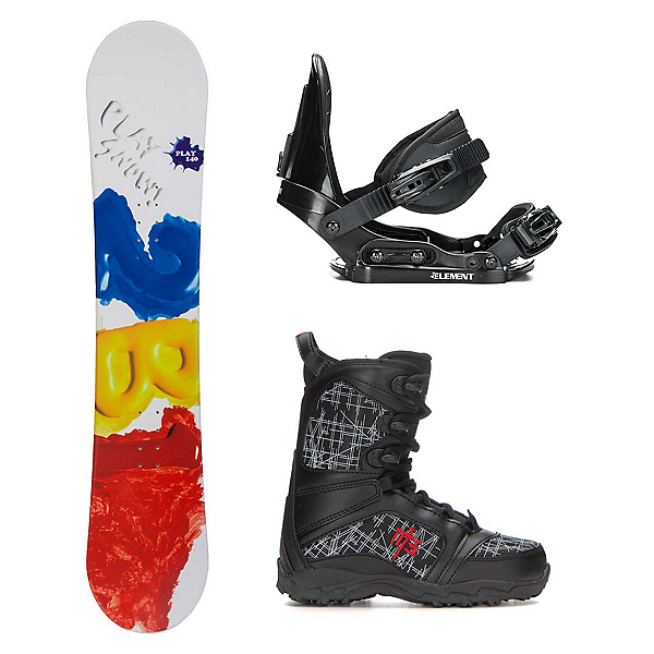 2B1 Play Red Militia Kids Complete Snowboard Package, , 600