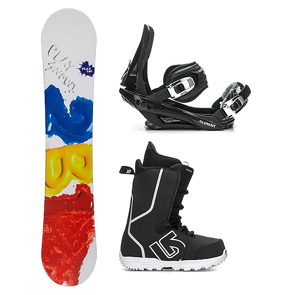 2B1 Play Red Fastplant Kids Complete Snowboard Package 2018, , 600