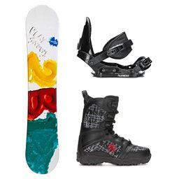 2B1 Play Teal Militia Kids Complete Snowboard Package, , 256