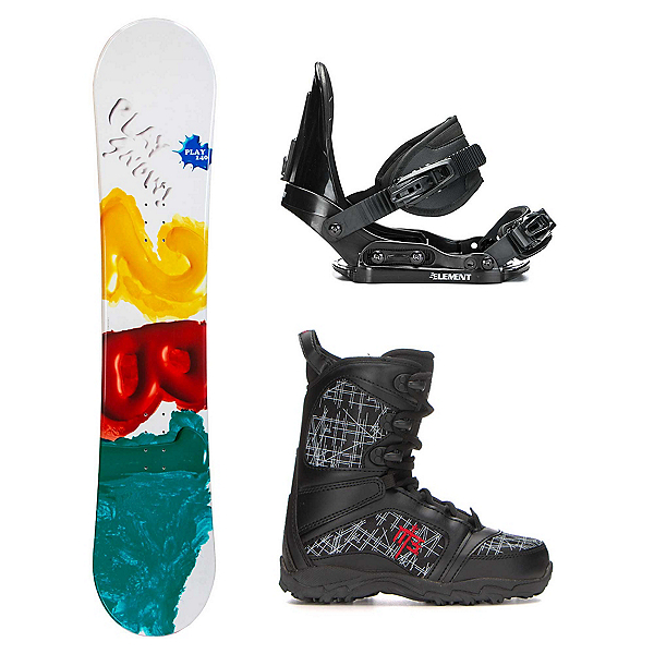 2B1 Play Teal Militia Kids Complete Snowboard Package, , 600