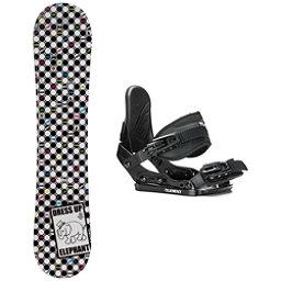 SLQ Tone Elephant Rocker Stealth Girls Snowboard and Binding Package, , 256