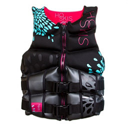 HO Sports Couture Womens Life Vest, Black-Blue, 256