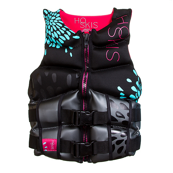 HO Sports Couture Womens Life Vest, Black-Blue, 600