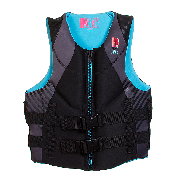 HO Sports Pursuit W Neo Womens Life Vest, Black-Blue, 600