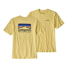 Patagonia Line Logo Badge Responsibili-Tee Mens T-Shirt, Crest Yellow, 256