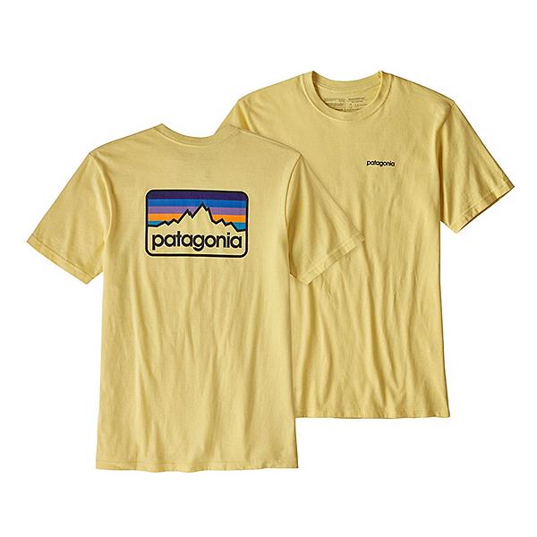 Patagonia Line Logo Badge Responsibili-Tee Mens T-Shirt, Crest Yellow, 600