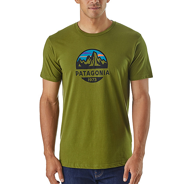 Patagonia Fitz Roy Scope Organic Cotton Mens T-Shirt, Sprouted Green, 600
