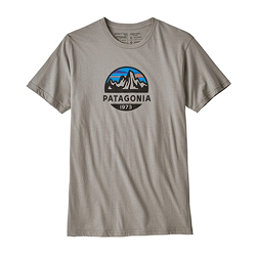 Patagonia Fitz Roy Scope Organic Cotton Mens T-Shirt, Feather Grey, 256