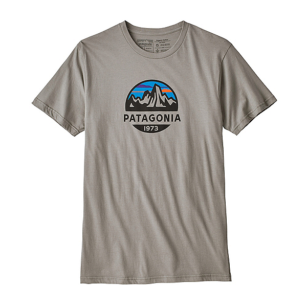 Patagonia Fitz Roy Scope Organic Cotton Mens T-Shirt, Feather Grey, 600