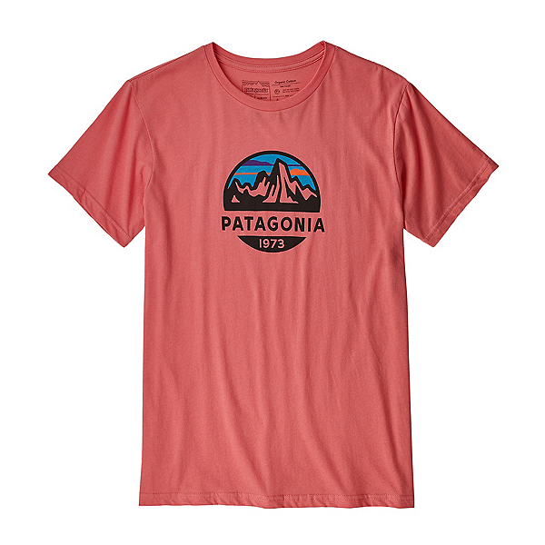 Patagonia Fitz Roy Scope Organic Cotton Mens T-Shirt, Spiced Coral, 600