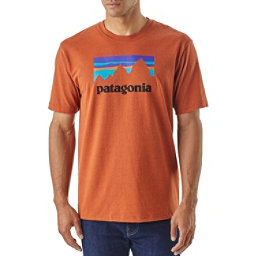 Patagonia Shop Sticker Responsibili-Tee Mens T-Shirt, Copper Ore, 256