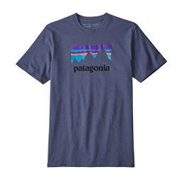 Patagonia Shop Sticker Responsibili-Tee Mens T-Shirt, Dolomite Blue, 256