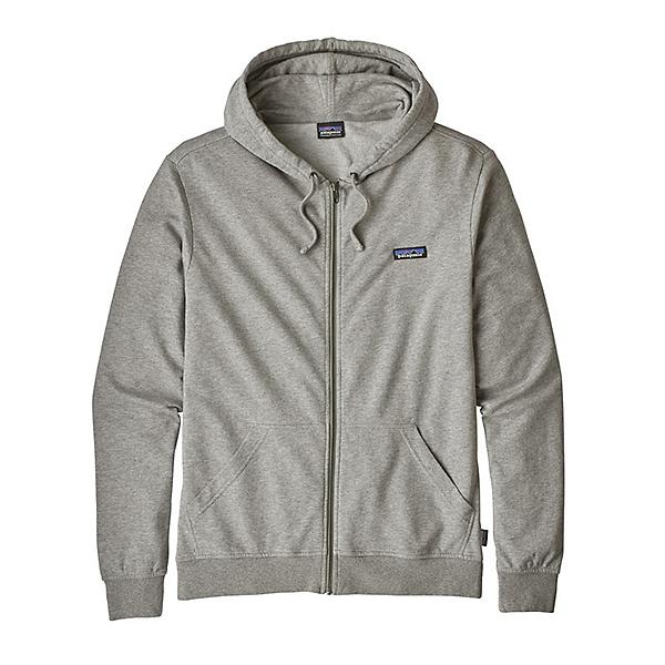 Patagonia P-6 Label Lightweight Full-Zip Mens Hoodie, Feather Grey, 600