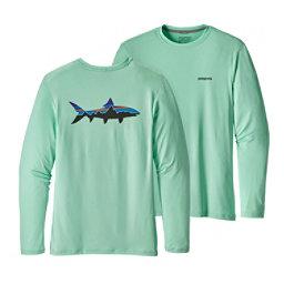 Patagonia Graphic Tech Fish Mens Shirt, Fitz Roy Bonefish-Bend Blue, 256