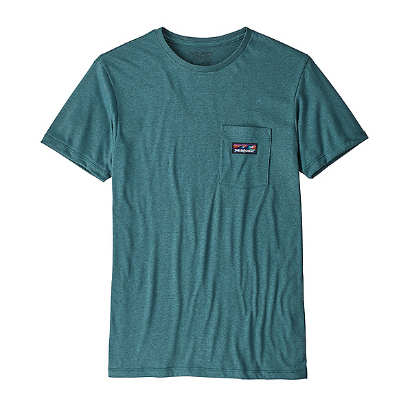 Patagonia Hybrid Pocket Responsibili-Tee Mens T-Shirt, Tasmanian Teal, 600