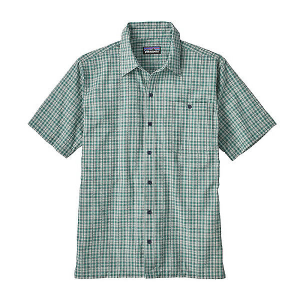 Patagonia Puckerware Mens Shirt, Little Sur-Beryl Green, 600