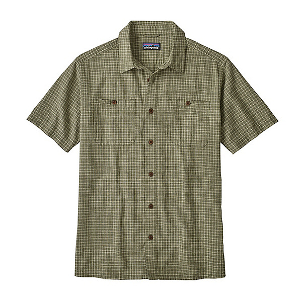 Patagonia Back Step Mens Shirt, Tino-Industrial Green, 600
