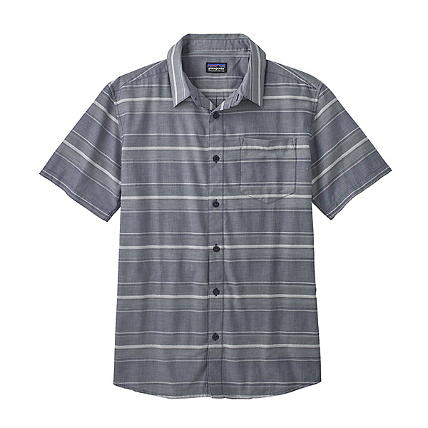 Patagonia Fezzman Regular Fit Mens Shirt, Rugby Dobby-Classic Navy, 600