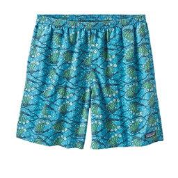 Patagonia Baggies 7 Inch Mens Hybrid Shorts, Hexy Fish-Radar Blue, 256