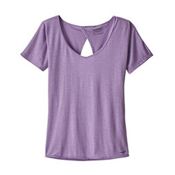 Patagonia Mindflow Short Sleeve Womens Shirt, Light Acai, 256
