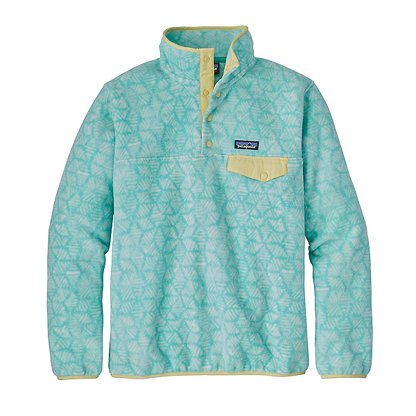 Patagonia Lightweight Synchilla Snap-T Fleece Pullover, Batik Hex Big-Bend Blue, 600