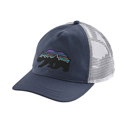 Patagonia Fitz Roy Bear Layback Trucker Womens Hat, Dolomite Blue, 256