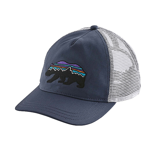 Patagonia Fitz Roy Bear Layback Trucker Womens Hat, Dolomite Blue, 600