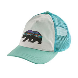 Patagonia Fitz Roy Bear Layback Trucker Womens Hat, White-Bend Blue, 256