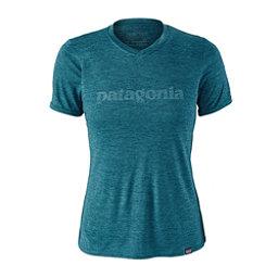 Patagonia Capilene Daily Graphic Womens T-Shirt, Text Logo-Elwha Blue-Navy Blue, 256