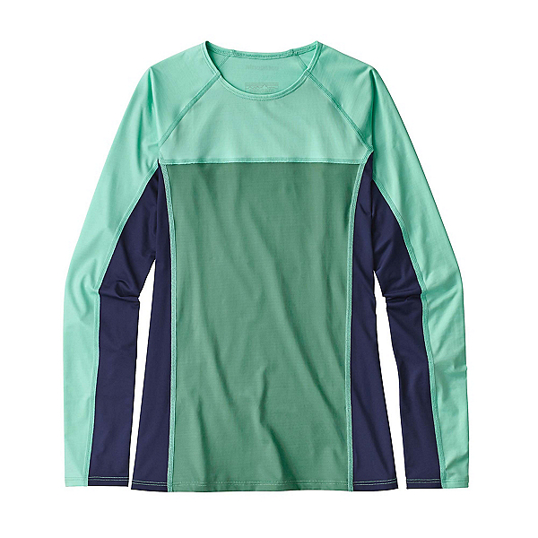 Patagonia Micro Swell Long Sleeve Womens Rash Guard, Beryl Green, 600