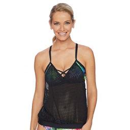 Next Spectrum Palm Turn Out D Bathing Suit Top, , 256