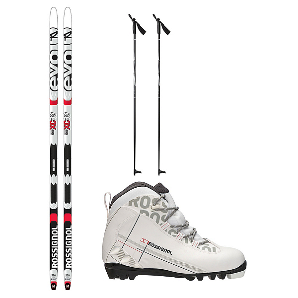 Rossignol Evo First 49 IFP X-1 FW XC Active Cross Country Ski Package 2018, , 600
