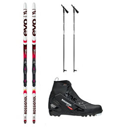 Rossignol Evo Action 50 X-2 NNN XC Active ALU Cross Country Ski Package 2018, , 256