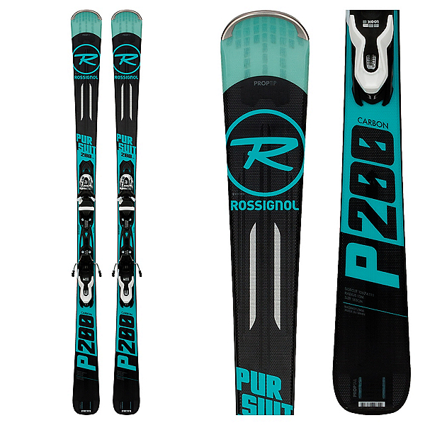 Rossignol Pursuit 200 Carbon Skis with Xpress 10 Bindings 2018, , 600