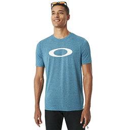 Oakley O-Mesh Ellipse Mens T-Shirt, Atomic Blue Dark Heather, 256