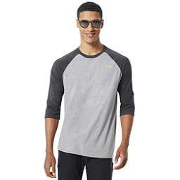 Oakley SO - DTP CIR FB Raglan Mens Shirt, Athletic Heather Grey, 256