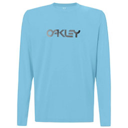 Oakley Long Sleeve Surf Tee Mens Rash Guard, Atomic Blue, 256