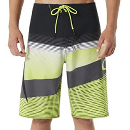Oakley Gnarly Wave Mens Board Shorts, Lime Green, 256