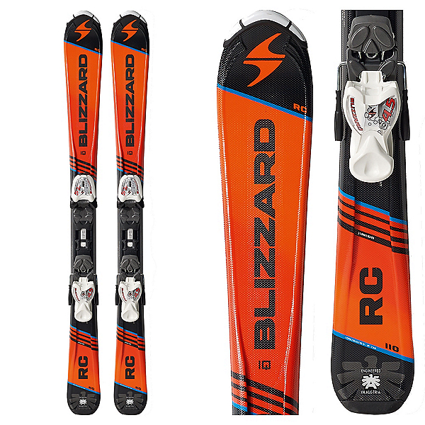 Blizzard RC Jr. Kids Skis with IQ 4.5 Bindings, , 600