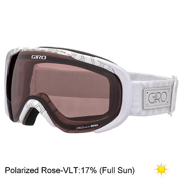 Giro Field Polarized Womens Goggles, White Deco-Polarized Rose, 600
