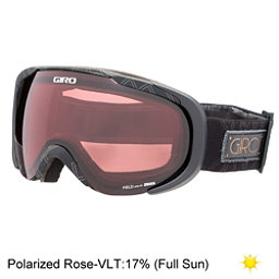 Giro Field Polarized Womens Goggles, Black Deco-Polarized Rose, 256
