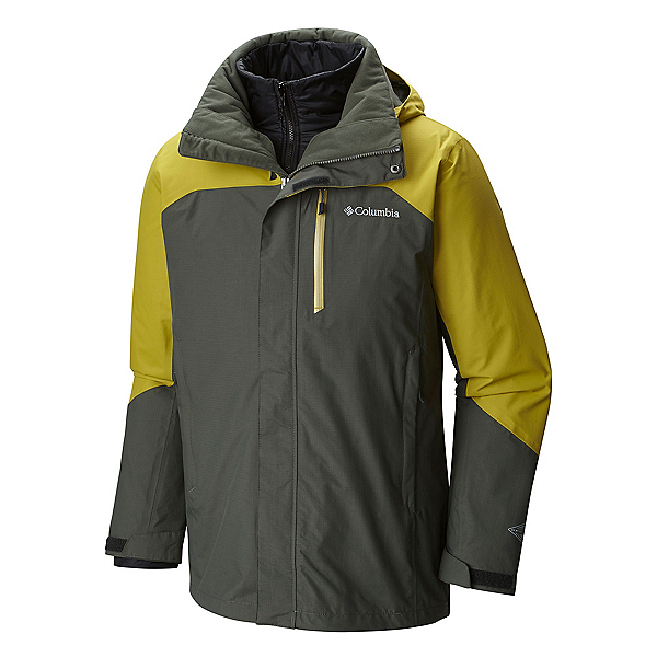 Columbia Lhotse II Interchange Tall Mens Insulated Ski Jacket, Gravel Peppercorn, 600