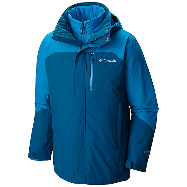 Columbia Lhotse II Interchange Tall Mens Insulated Ski Jacket, Phoenix Blue Dark Compass, 600